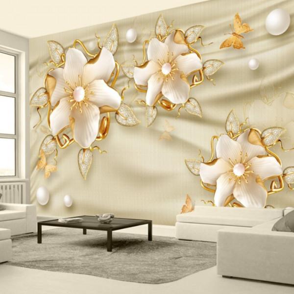 Fototapet 3D Flori Aurii PFT4