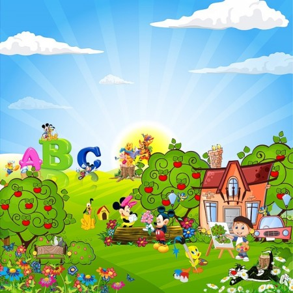 Fototapet Camere pentru Copii, Mickey si Prietenii CG1