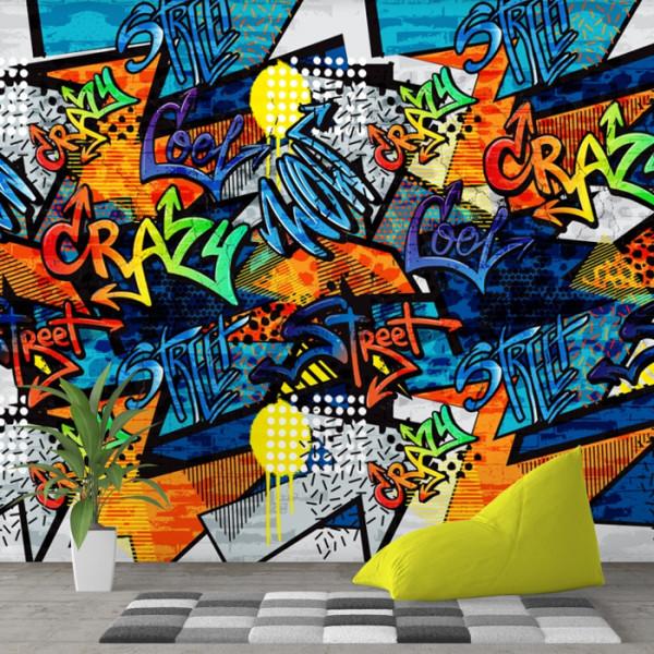 Fototapet Graffiti Crazy Wall PVS10