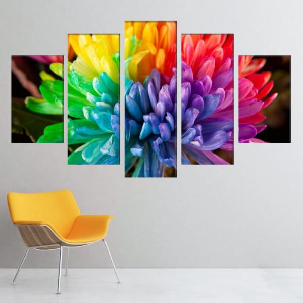 Multicanvas Petale Multicolore CFB50