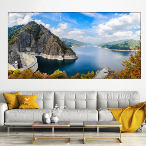Tablou Barajul și Lacul Vidraru - Munții Făgăraș ROM18