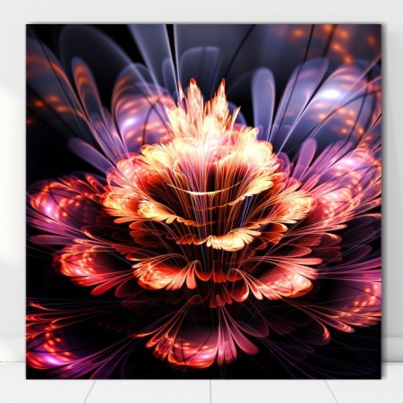 Tablou Canvas Floare Fractal Abstract SFR57
