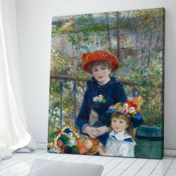 Tablou Pierre-Auguste Renoir Două surori Pe Terasă