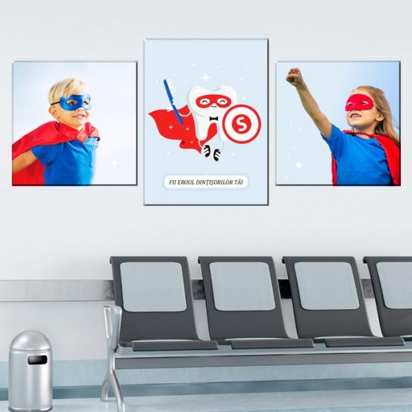 Tablou Canvas Super- Erou Baiat cu Dinti Ingrijiti TH37C