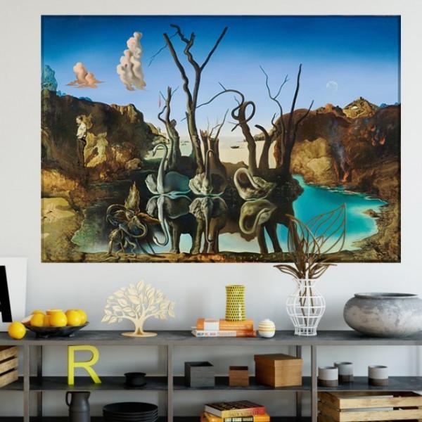 Tablou Dali - Swans Reflecting Elephants TRSD01