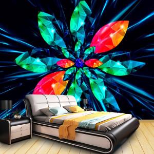Fototapet 3D Crystal Geometric Flower BES107