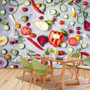 Fototapet Mix de Fructe si Legume GFL106