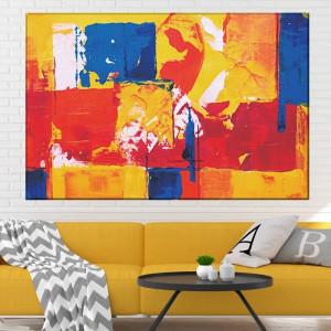 Tablou Canvas Abstract Bucurie de Culori CTB51