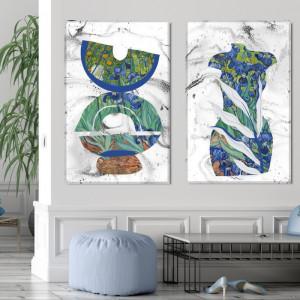 Tablou Canvas Ilustratie Mix Abstract-Modern Irisi Van Gogh VVG25B