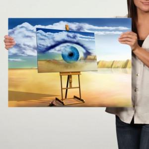 Tablou Canvas, Reproducere dupa Dali, Ochiul Vizionar TRSD30