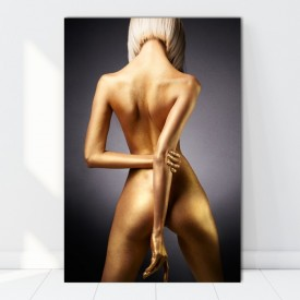 Tablou Femeie Sexy cu Corp Auriu SX93