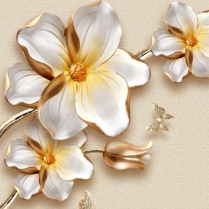Fototapet 3D Flori Aurii OPO43