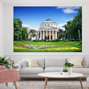 Tablou Canvas Ateneul Român Vara ROM1