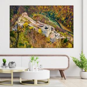Tablou Canvas Cetatea Poenari Transfăgărășan ROM22