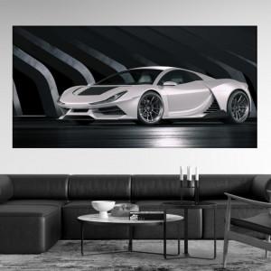Tablou Canvas Masina Alba Concept Futurist ADC39