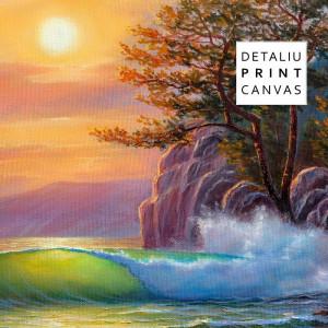 Tablou Canvas Peisaj de Mare cu Valuri Multicolore TPP3