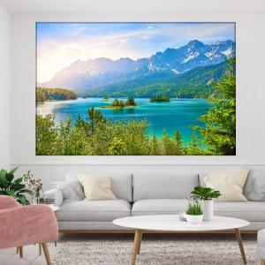 Tablou Canvas Sclipiri de Soare pe Lac TOPSN31