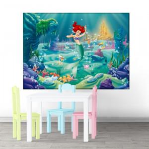 Tablou Canvas Micuta Sirena In Lumea Acvatica DEB77