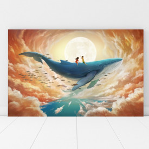 Tablou Canvas Plimbare cu Balena FZT8