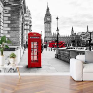 Fototapet 3D Alee Catre Turnul Big Ben al Palatului Westminster din Londra TLON11