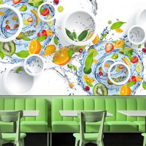 Fototapet 3D Fructe Fresh in Apa BES305B