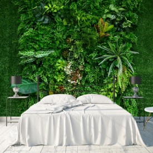 Fototapet 3D Gradina Verticala, Plante Verzi GRD28