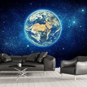 Fototapet 3D Planeta Pamant Printre Stele OUS71