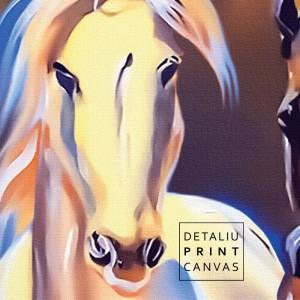 Tablou Canvas 7 Cai Galopand, Simbolul Succesului HS115