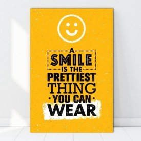 Tablou Canvas A Smile is The Prettiest Thing You Can Wear TH41
