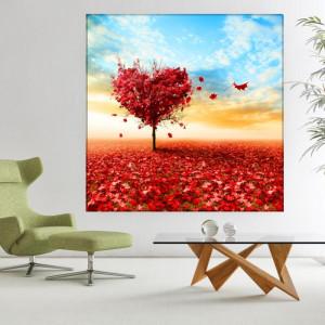 Tablou Canvas Copac Romantic Toamna BNLS61