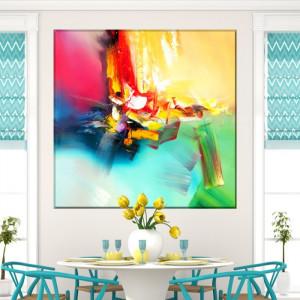 Tablou Canvas Curcubeu Abstract CTB37