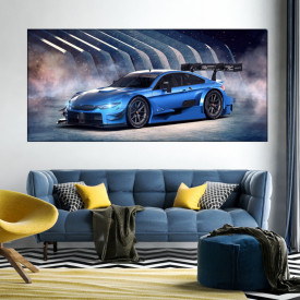 Tablou Canvas Masina Albastra Concept Futurist ADC41