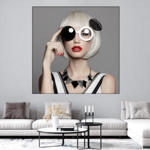 Tablou Canvas Model Fashion cu Ochelari FRL28