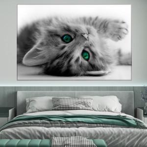 Tablou Canvas Pisic cu Ochii Verzi CAT71