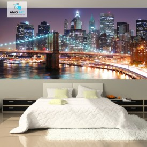 Fototapet New York, Culori In Noapte TUSA17