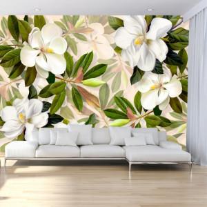 Fototapet 3D Flori de Magnolie Grandiflora CFB37