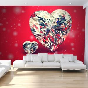 Fototapet 3D Inima de Diamant OPOS84