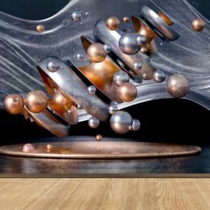 Fototapet Sfere Abstracte cu Nuante de Bronz OPOS92