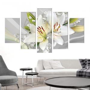 Multicanvas Flori Albe de Crini OPOS67M