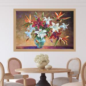 Rama Tablou Canvas Imitatie Lemn Natur N037