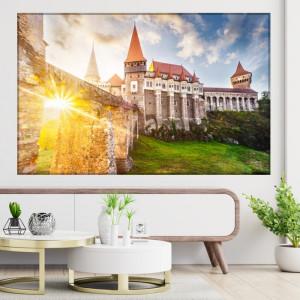 Tablou Canvas Apus la Castelul Corvinilor, Hunedoara ROM24