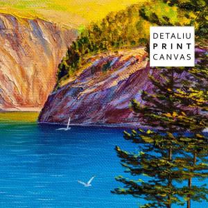 Tablou Canvas Peisaj de Munte Vara pe Lac TPP1