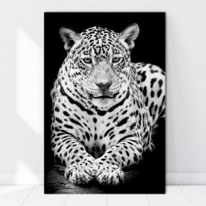 Tablou Canvas Leopard Alb-Negru ATGR61