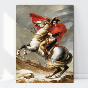 Tablou Napoleon Bonaparte traversând Marele Saint Bernard TRC1