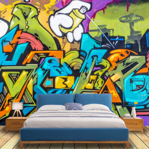 Fototapet Grafitti Urban Perete PPS5