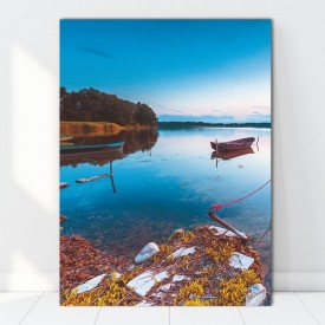 Tablou Canvas Barca Printre Reflexii Albastre BFS21