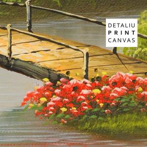 Tablou Canvas Peisaj de Tara cu Lebede pe Lac TPP33