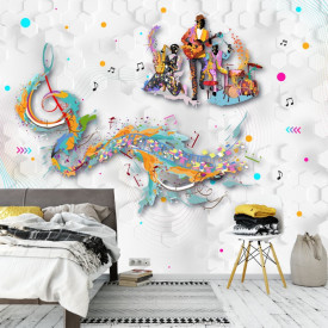 Fototapet 3D Armonia Notelor Muzicale AMG2101
