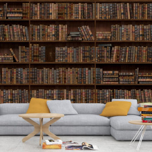 Fototapet 3D Biblioteca Vintage LIB8