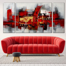 Set 3 Tablouri Modern Abstract Art ACA22